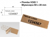 Adhesive Label VOID 1  glossy 60x20mm silver
