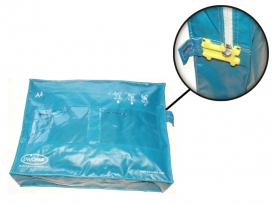 Security Bag A4/12 L Blue